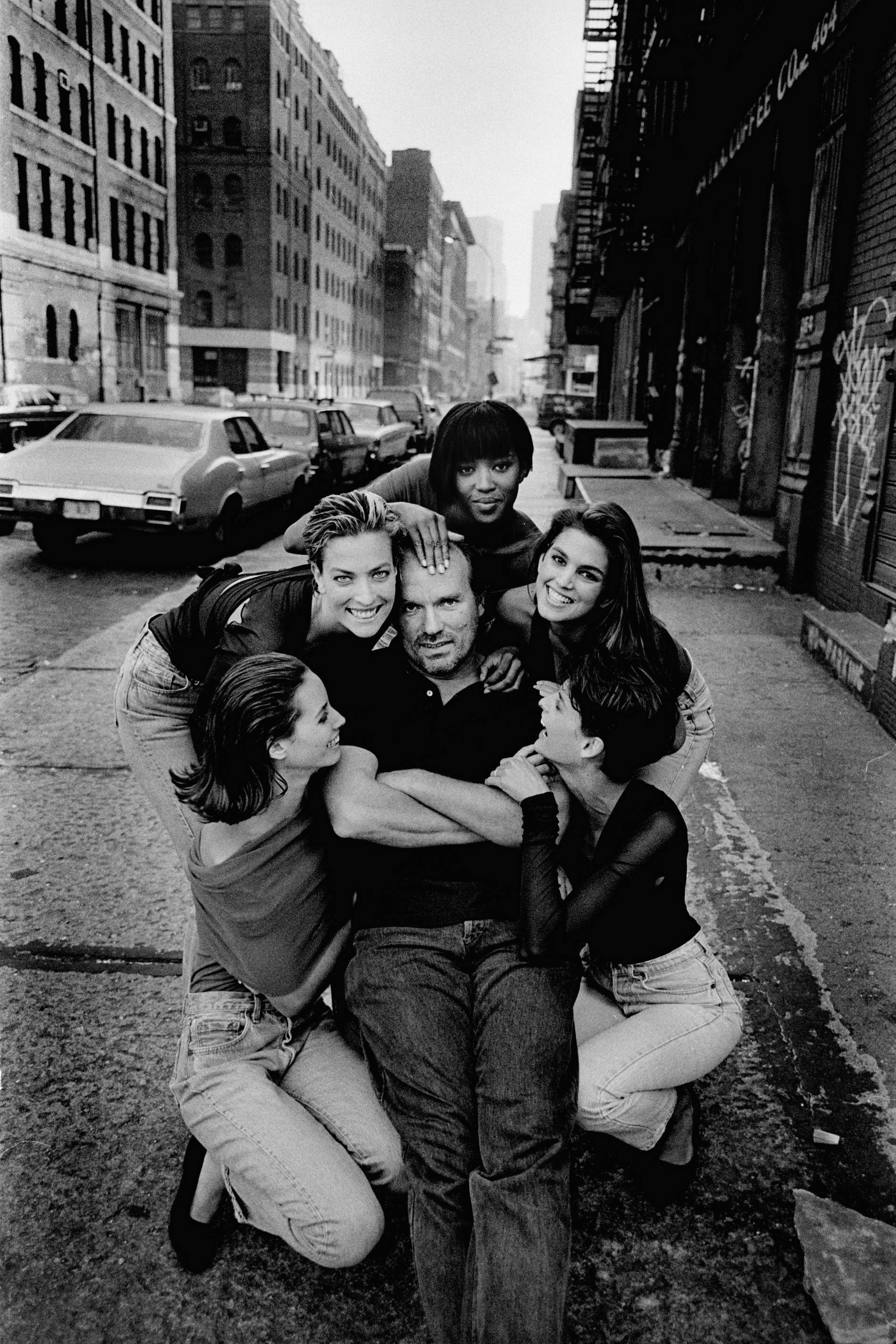 Bts on the iconic 90s peter lindbergh image of the supers