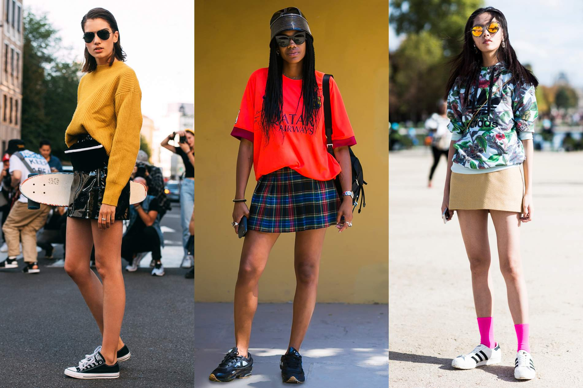 shoes to wear with a mini skirt
