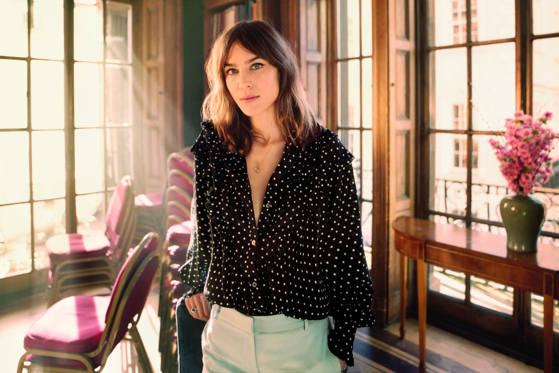 The One Thing Alexa Chung Does to Her Hair Every Day pictures