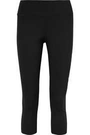 Perforated stretch leggings