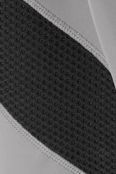 Nike Power Leggings aus Dri-FIT-Stretch-Material mit Mesh-Einsätzen