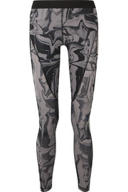 Hypercool mesh-paneled printed Dri-FIT stretch leggings