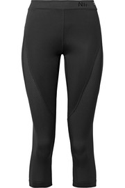 Hypercool mesh-paneled stretch leggings