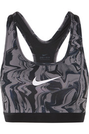Classic printed Dri-FIT stretch sports bra