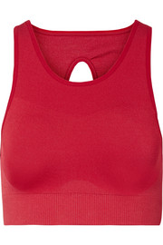 Seamless cutout stretch sports bra