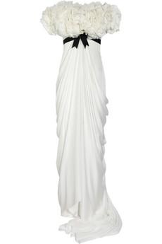 Marchesa|Ruffled silk-chiffon gown|NET-A-PORTER.COM from net-a-porter.com