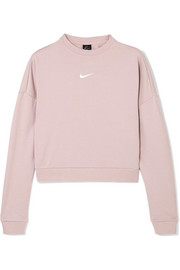 Dry cropped cutout French terry sweatshirt