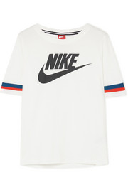 Nike Striped printed cotton-jersey T-shirt