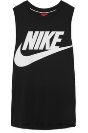 Nike Essential printed stretch-jersey tank
