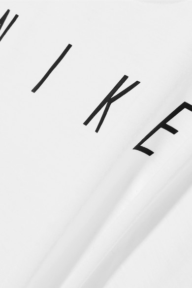 Nike Breathe Tanktop aus bedrucktem Dri-FIT-Stretch-Material und Stretch-Mesh