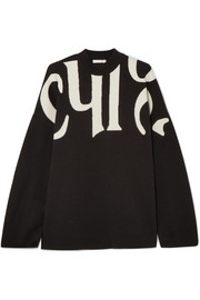 Chloé Intarsia wool and cotton-blend sweater