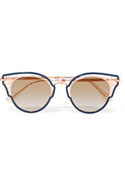 Jimmy Choo Dhelia cat-eye rose gold-tone and acetate sunglasses
