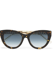 Jimmy Choo Nile cat-eye chain-embellished acetate sunglasses