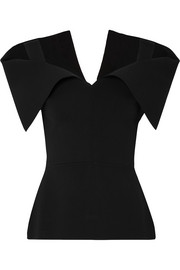Roland Mouret Cold-shoulder stretch-jersey top