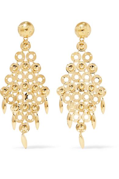 Prada Gold Tone Earrings