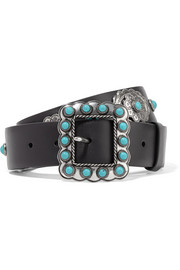 Prada Embellished leather belt