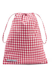 Gingham canvas cosmetic case