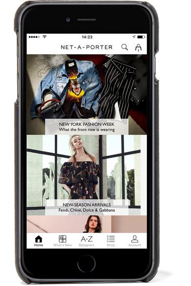Prada Appliquéd-cuir Texturé Iphone 7 Plus - Noir Vente De Nouveaux Styles De Nouveaux Styles En Ligne 27g4q