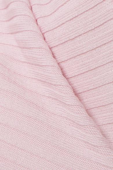 Marques Almeida Drapierter Pullover aus gerippter Merinowolle