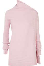 Marques' Almeida Draped ribbed merino wool sweater