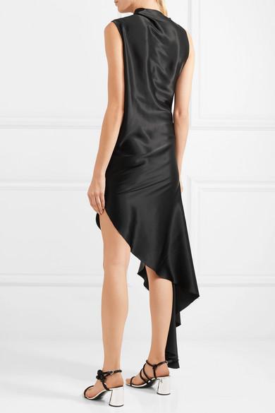 Marques' Almeida Asymmetrisches Kleid aus Seidensatin