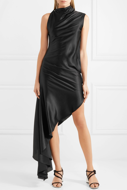 Marques' Almeida Asymmetric silk-satin dress