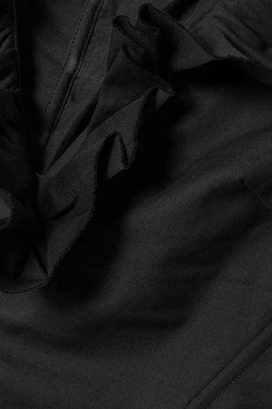 Marques' Almeida Schulterfreies Oberteil aus Baumwollpopeline mit Rüschen und Schnürung