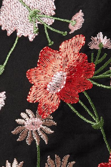 Marques' Almeida Besticktes Minikleid aus einer Baumwollmischung mit Cut-outs