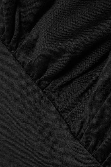 Marques' Almeida Asymmetrisches Oberteil aus Baumwoll-Jersey mit Raffung