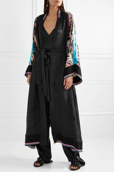 Etro Mantel aus bedrucktem Seiden-Jacquard