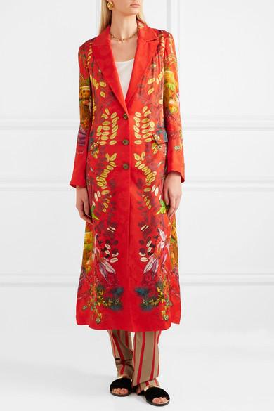 Etro Mantel aus bedrucktem Jacquard