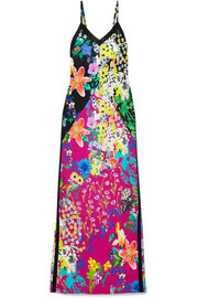 Etro Floral-print crepe de chine maxi dress