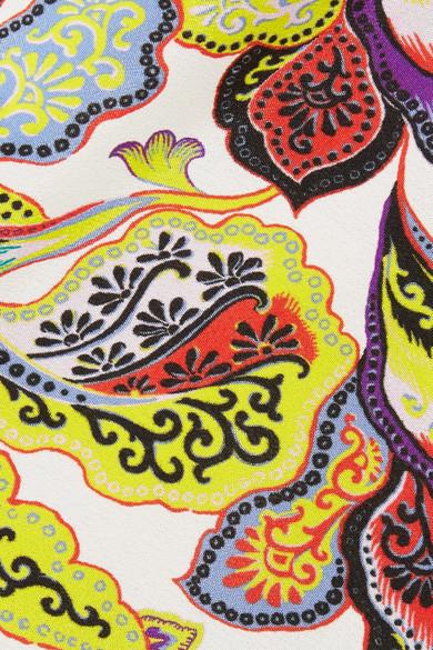 Etro Schulterfreie Seidenbluse Seidenbluse Schulterfreie Etro Print mit mit Print EqH4zO