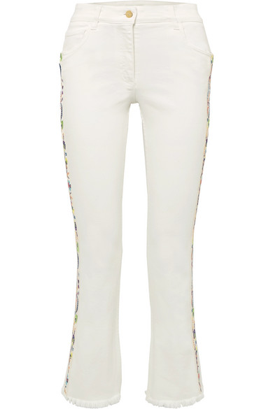 Etro High-seated Impact Jeans With Embroidery