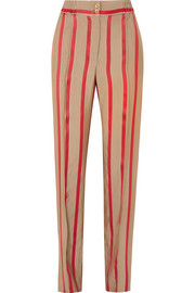Etro Striped satin-twill wide-leg pants