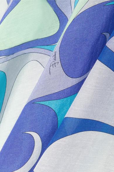 Emilio Pucci Verzierter Kaftan aus einer Baumwoll-Seidenmischung mit Print