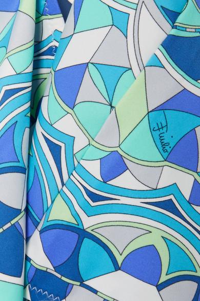 Emilio Pucci Arenal bedruckter Badeanzug mit Verzierung