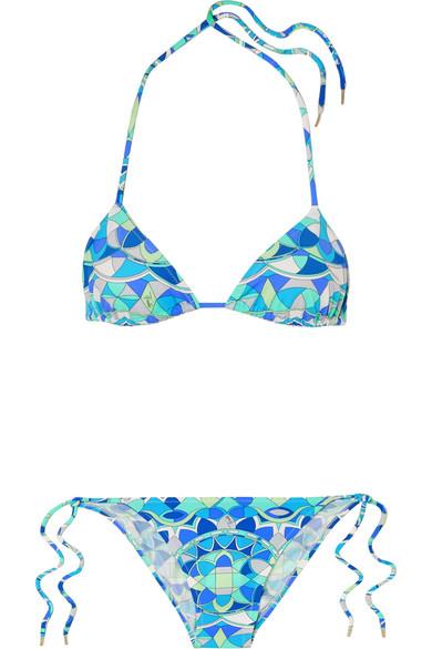 Emilio Pucci Arenal bedruckter Triangel-Bikini