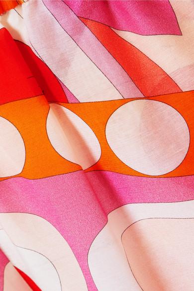 Emilio Pucci Nigeria verzierter Jumpsuit aus einer bedruckten Baumwoll-Seidenmischung