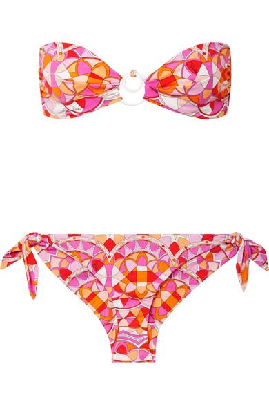 Emilio Pucci Arenal bedruckter Bandeau-Bikini