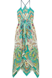 Etro Oahu printed silk-satin maxi dress
