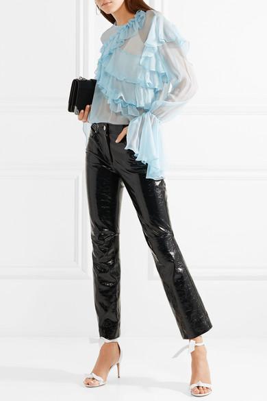 Erhalten Verkauf Online Kaufen Rabatt Authentisch Alexandre Birman Clarita Sandalen aus Leder mit Schleifenverzierung Billig Verkauf Auslass IxT9p5R