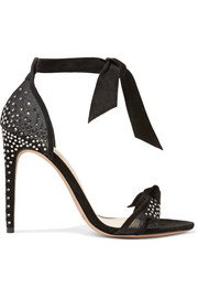 Alexandre Birman Clarita embellished suede and mesh sandals