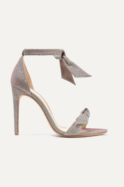 Alexandre Birman Clarita bow-embellished textured-lamé sandals