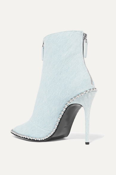 Rivets Alexander Wang Eri Ankle Boots Made Of Denim With