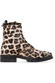 Alexander Wang Lyndon embellished leopard-print calf hair ankle boots