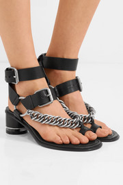 Jada chain-embellished leather sandals