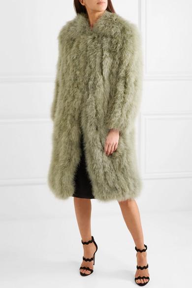 Prada Mantel aus Federn