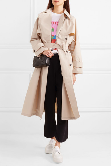 Prada Trench Popeline From A Cotton Blend