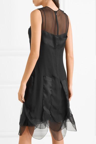 Prada Kleid aus Seiden-Georgette mit Einsätzen aus Organza